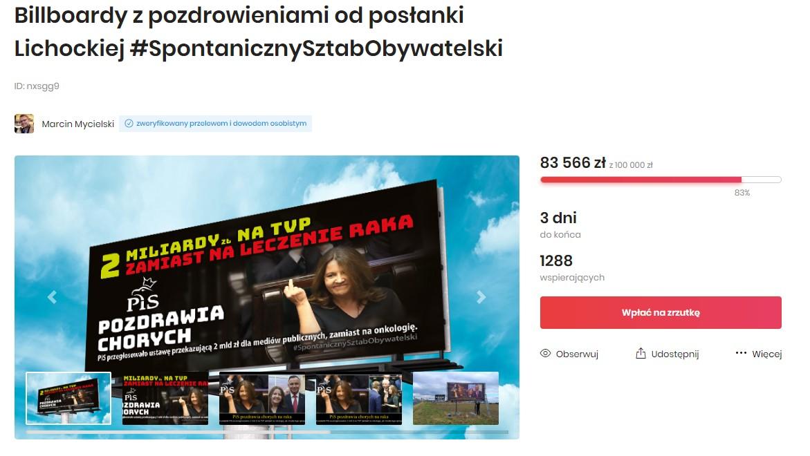 banery joanna lichocka zrzutka - Zrzutka.pl