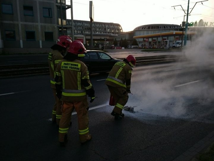 wybuch hulajnogi poznań hetmańska - Straż Miejska Miasta Poznania
