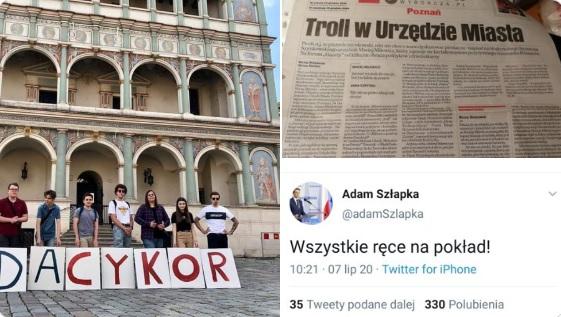 Szynkowski vel Sęk zarzuca Szłapce współpracę z internetowym hejterem - TT: Szymon Szynkowski vel Sęk