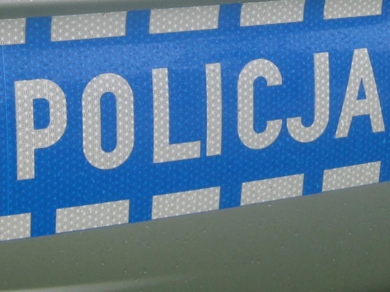 policja - radiowóz, napis