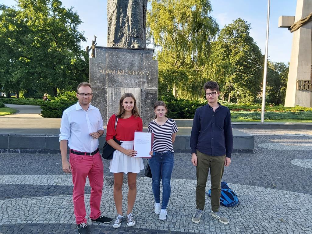 młodzi pis forum młodych apel białoruś - Krzysztof Polasik