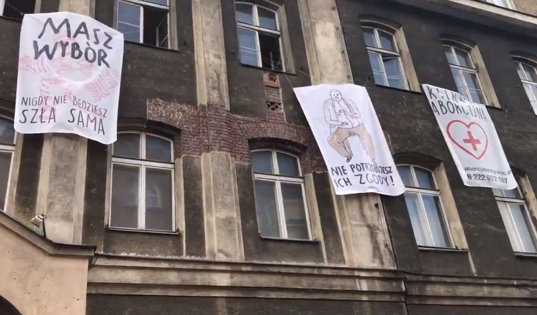 anarchiści protest trybunał aborcja - Radio Poznań