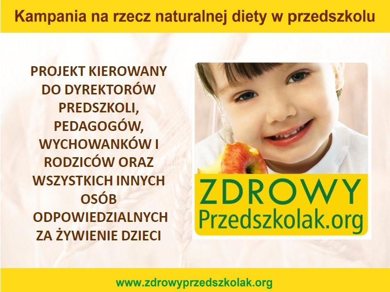 Plakat - zdrowy przedszkolak - zdrowyprzedszkolak.org