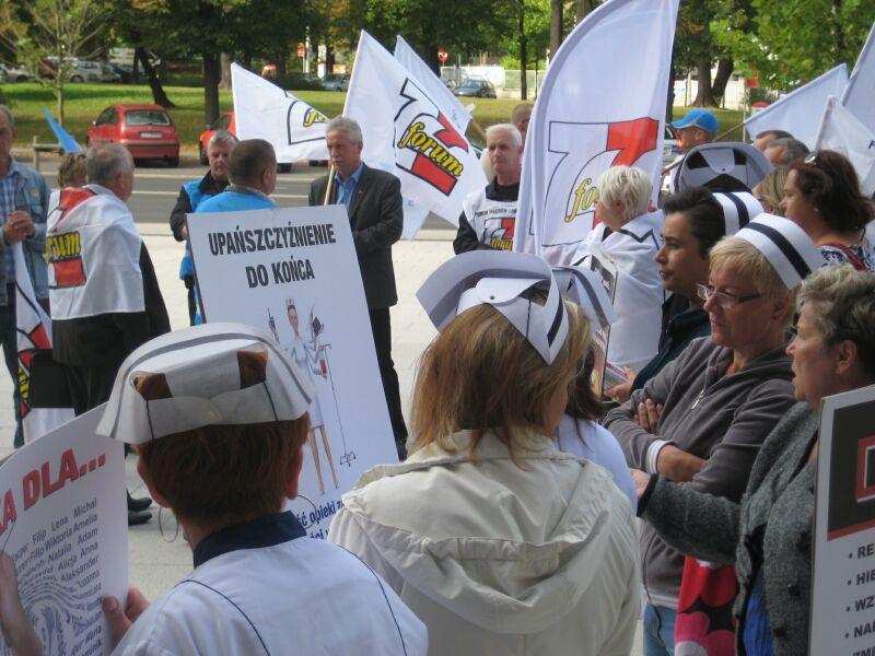 protest pielęgniarki 2012 06