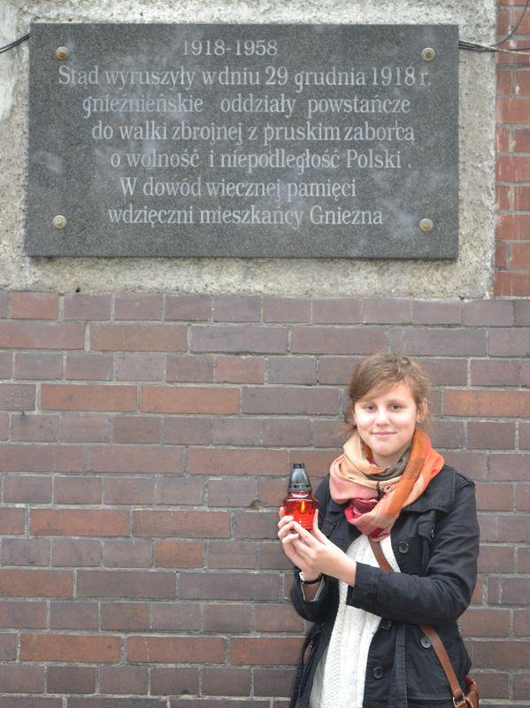 Tablica pamiątkowa w Gnieźnie