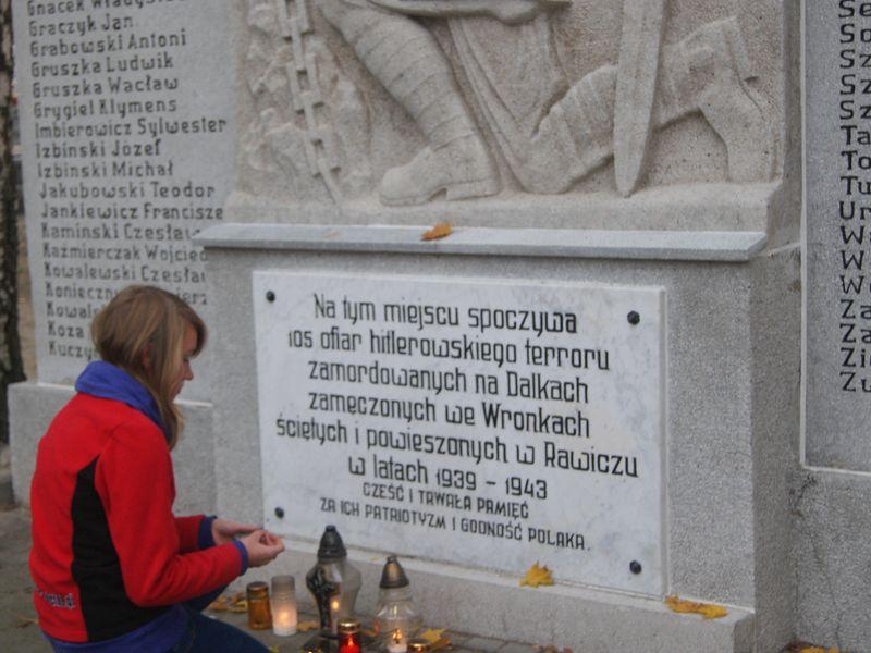 Pomnik pomordowanych na cmentarzu w Gnieźnie