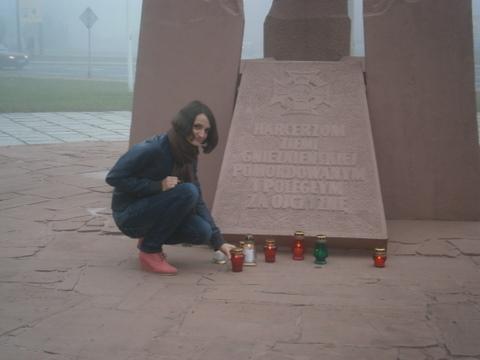 Zapal znicz pamięci - pomnik harcerzy w Gnieźnie Fot. Karolina Splis