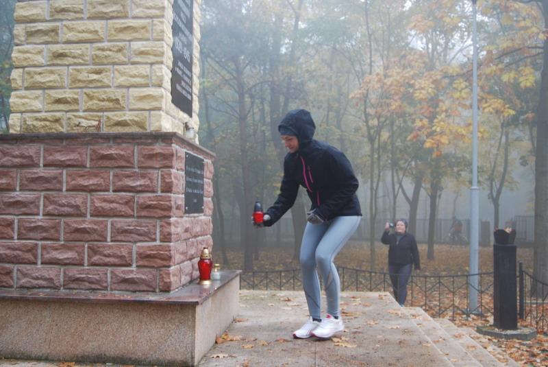 Zapal Znicz Pamięci 2012 za parkiem w Koninie