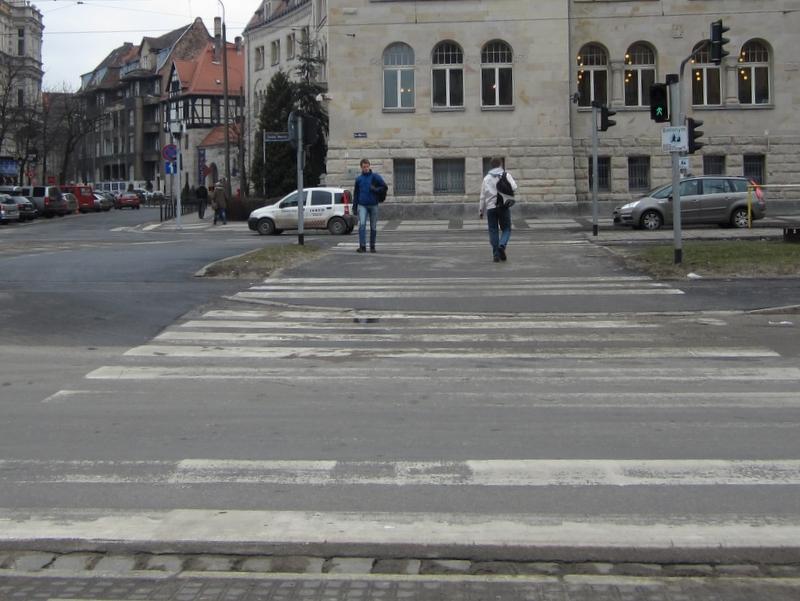 Przejście dla pieszych - św. Marcin - Adam Michalkiewicz