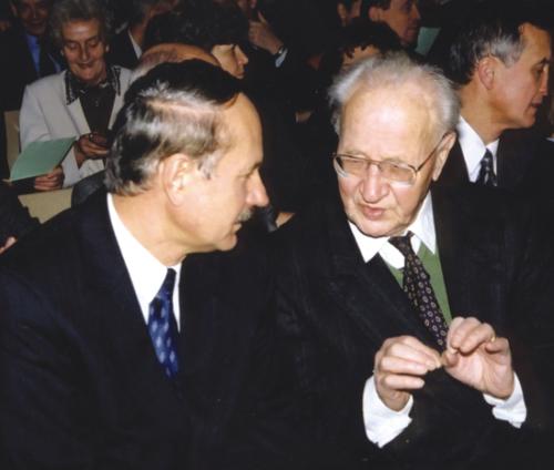 Prof. Węglarz i prof. Gerard Labuda - A. Wójtowicz - PAN