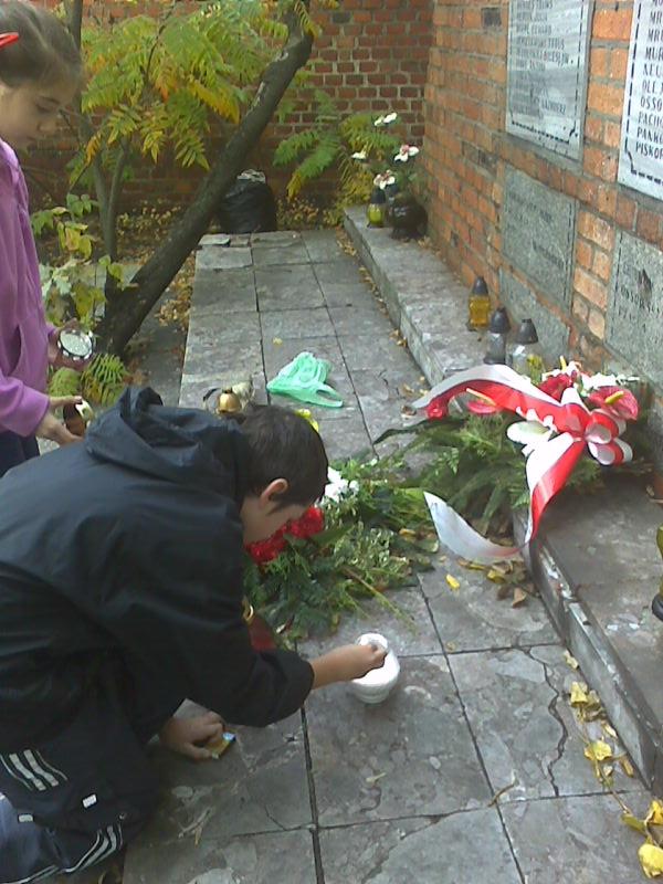 Milena Lewicka z uczniami z Gimnazjum nr 25 w Bydgoszczy