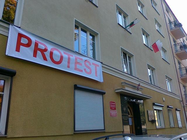 Protest leśników w Poznaniu - Wojciech Chmielewski