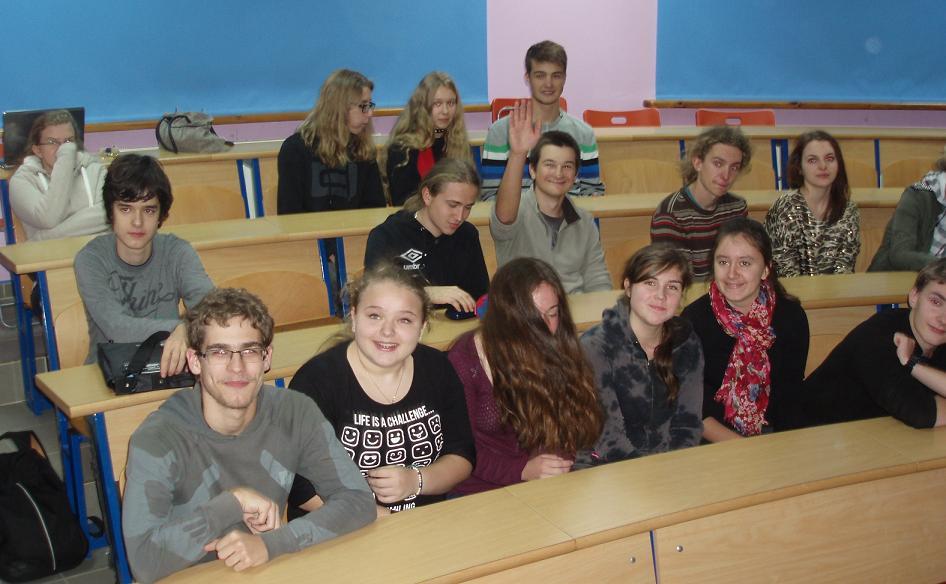 lekcja w LO w Swarzędzu - Anna Białobrzeska