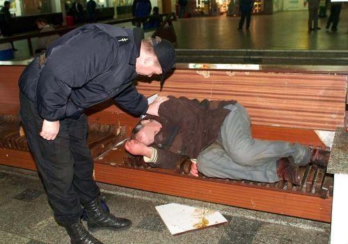 pomoc bezdomnym - Policja