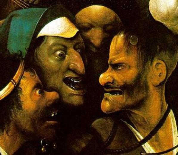 śmiech do zdrowie2 - Hieronim Bosch - fragm obrazu (Wikipedia)