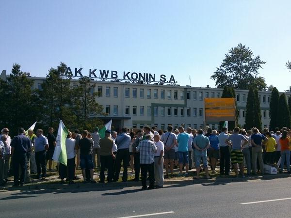 protest przed kopalnią Konin (8) - Emilia Chudzińska