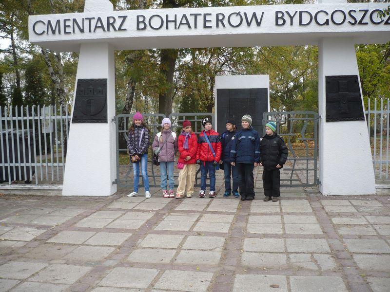 Uczniowie klasy 4. c z  Zespołu Szkół nr 19 w Bydgoszczy