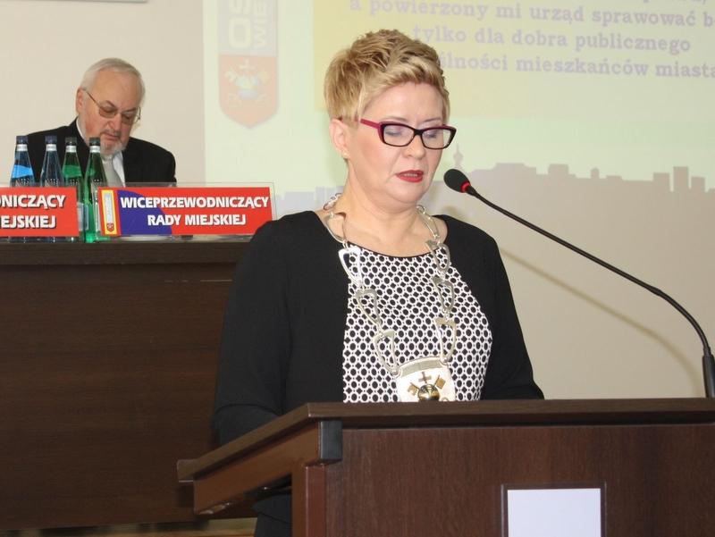 Beata Klimek, prezydent Ostrowa Wielkopolskiego - Jarosław Wardawy