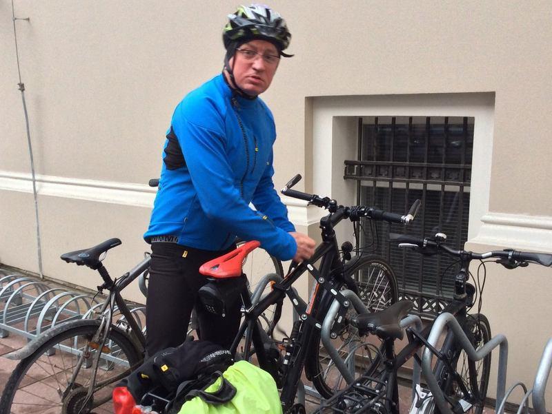jacek jaskowiak na rowerze u nas - Wojciech Biedak