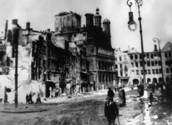 zniszczony poznan 1945 - Poznań