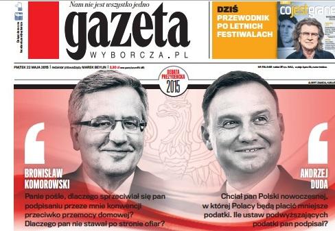wyborcza okładka - Gazeta Wyborcza