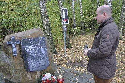 Bartłomiej Wróblewski - w Lesie Bolechowskim na granicy gmin Murowana Goślina i Czerwonak z Darkiem Paprockim