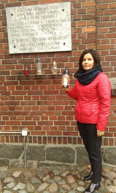 W Nowym Mieście nad Wartą - tablice poświęcone ofiarom