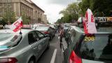 Taksówkarze demonstrowali w Poznaniu