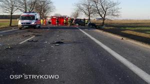 Wypadek między Stęszewem a Będlewem. Utrudnienia!