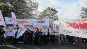 Związkowcy protestowali w Tarnowie Podgórnym