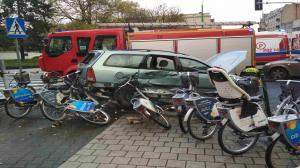 Wypadek na Głogowskiej. Ulica Berwińskiego już odblokowana