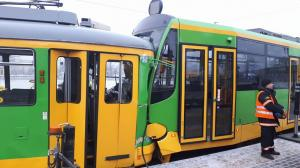Wypadek z udziałem tramwajów