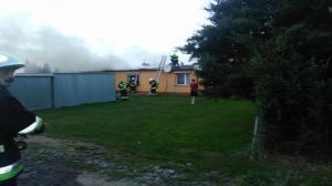 Pożar koło Kostrzyna