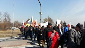 Protest rolników! Blokowali drogę krajową koło Środy Wielkopolskiej