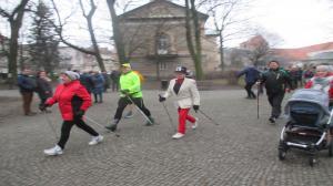 Noworoczne bieganie po parku