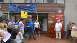 Mieszkańcy Dopiewa protestują