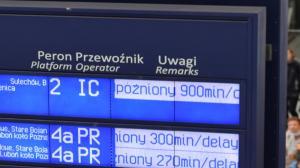 Prawie godzinę zatrzymany był ruch pociągów w Poznaniu