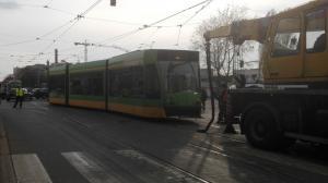Po wykolejeniu tramwajowy bałagan