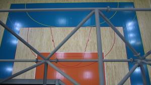 Sportowa arena pod koszem