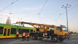 Wykolejenie tramwaju na Dębcu