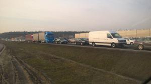 Utrudnienia przy wjeździe do Poznania