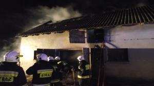 Pożar stodoły w Dobrzycy