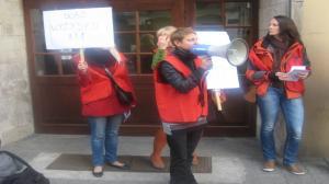 Protest przed UM