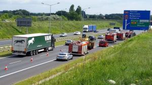 Wypadki na autostradzie. Korki na A2 i w mieście