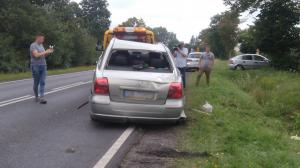 Podwójny wypadek na drodze nr 92. Rannych sześć osób