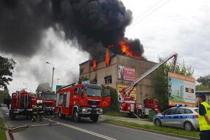 Pożar w centrum Wrześni
