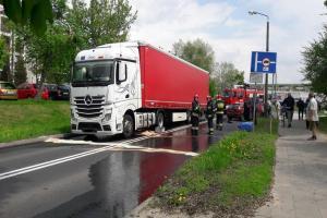 Wypadek w Śremie. Droga wojewódzka zablokowana