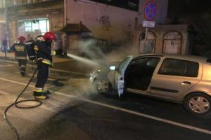 Pożar samochodu na Głogowskiej