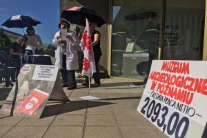 Protest poznańskich muzealników