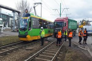 Wypadek tramwajowy na ulicy Starołęckiej